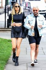 DEMI SIMS and Dean Rowland Out in London 07/14/2020