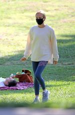 DIANE KRUGER Out at a Park in Los Angeles 07/22/2020