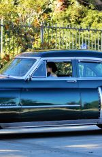 DITA VON TEESE Driving Out Her Classic Chevy in Los Angeles 07/16/2020