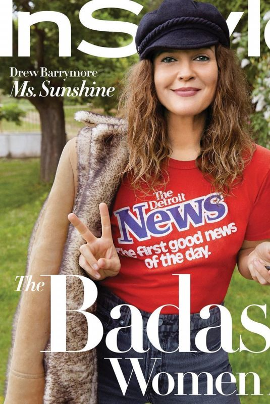 DREW BARRYMORE in Instyle Magazine, August 2020