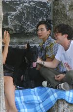 DUA LIPA Out with Friends at Brooklyn Bridge Park 07/18/2020