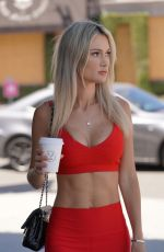 ELLA ROSE in Tights at Alfreds Coffee in West Hollywood 07/02/2020