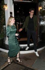 ELLIE GOULDING and Caspar Jopling Leaves Casa Cruz in Notting Hill 07/11/2020