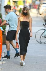 EMILY RATAJKOWSKI in a Tight Long Dress Out in New York 07/11/2020