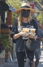 EMMA ROBERTS Out for Coffee in Los Angeles 07/05/2020