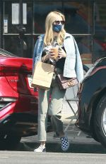 EMMA ROBERTS Out Shopping in Los Angeles 07/22/2020