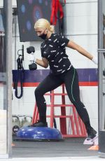EMMA SLATER Working at F45 Gym in Los Angeles 07/10/2020