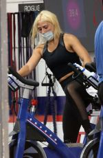 EMMA SLATER Workout at F45 in Studio Ciity 07/08/2020