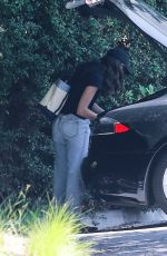 EMMY ROSSUM Arrives at Her Home in Beverly Hills 07/16/2020