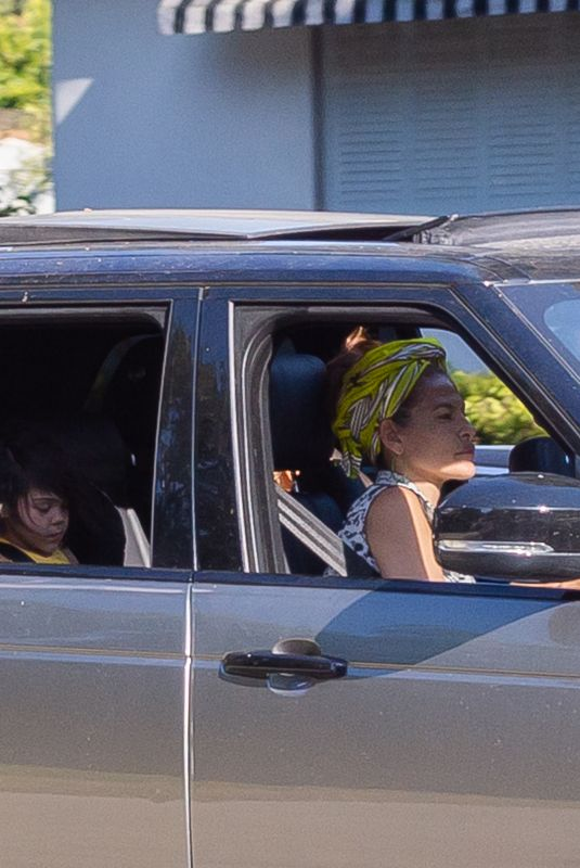 EVA MENDES and Ryan Gosling Out Driving in Los Angeles 07/11/2020