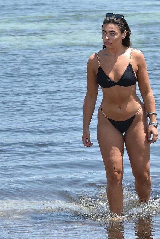 FANCESCA ALLEN in Bikini at a Beach 07/14/2020