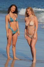 FRANCESCA FARAGO and HALEY CURETON in Bikinis at a Beach 07/17/2020