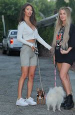 FRANCESCA FARGO and HALEY CURETON Out with Their Dogs in West Hollywood 07/14/2020