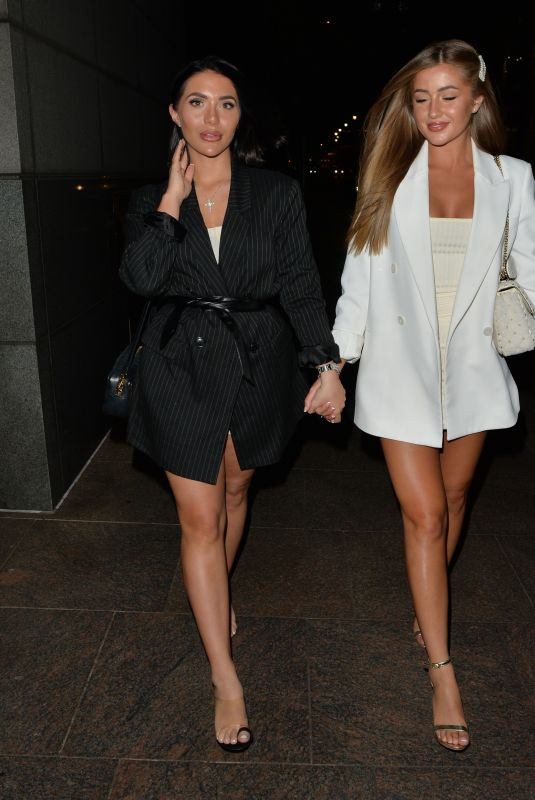 GEORGIA STEEL and CHLOE BROCKETT at Roka Restaurant in London 07/24/2020