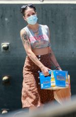 HALSEY at a Yacht with Friends in Marina Del Rey 07/21/2020