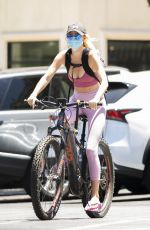 HAYLEY ROBERTS Out Riding a Bike in Calabasas 07/13/2020