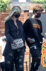 HEIDI KLUM and Tom Kaulitz Shopping at Maxfield 07/22/2020