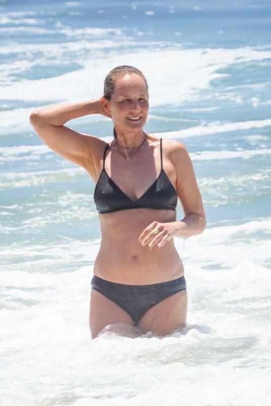 HELEN HUNT in Bikini at a Beach in Malibu 07/09/2020