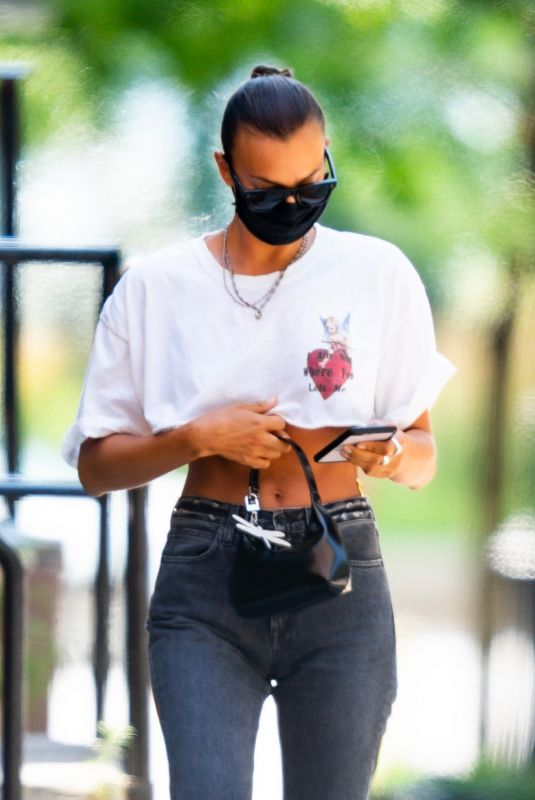 IRINA SHAYK Out and About in New York 07/25/2020