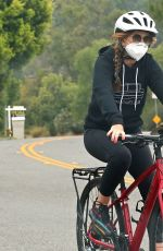 ISLA FISHER Out Riding Bike in Los Angeles 07/24/2020