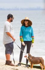 JACKIE and ADAM SANDLER Out on the Beach in Malibu 06/30/2020