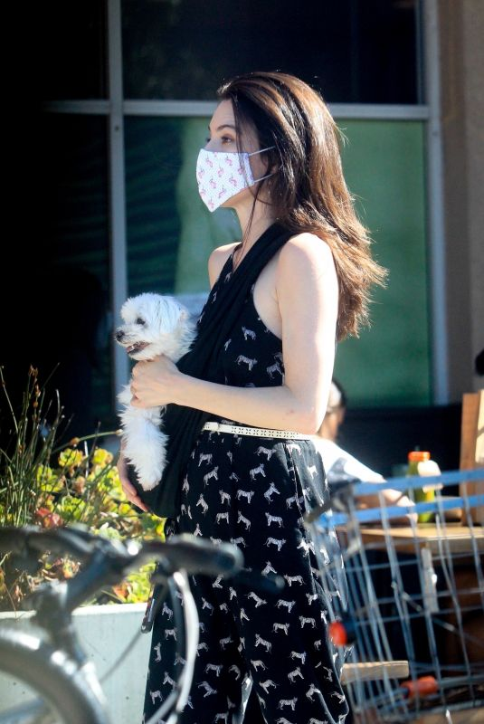 JAIME MURRAY Out with Her Dog in Hollywood 07/03/2020