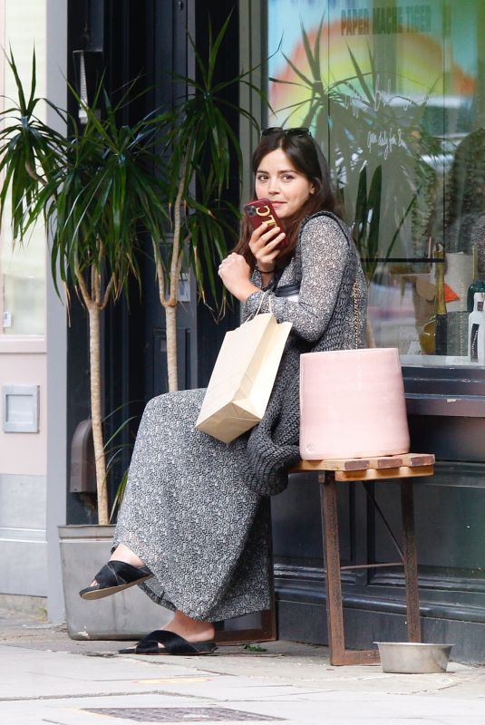 JENNA LOUISE COLEMAN Out Shopping in London 07/11/2020