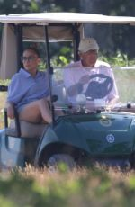 JENNIFER LOPEZ and Alex Rodriguez at Shinnecock Country Club in Southampton 07/27/2020