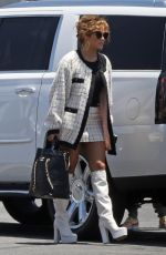 JENNIFER LOPEZ and Alex Rodriguez Boarding a Private Jet in Van Nuys 07/02/2020