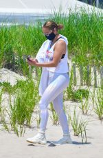 JENNIFER LOPEZ Out on the Beach in Hamptons 07/08/2020