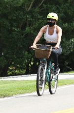 JENNIFER LOPEZ Out Riding a Bike in New York 07/23/2020