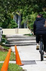 JENNIFER LOPEZ Riding Her Elliptigo Bike Out in Miami 07/12/2020