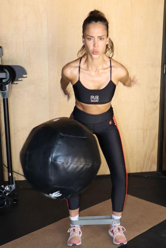 JESSICA ALBA at a Gym – Instagram Photos 06/30/2020
