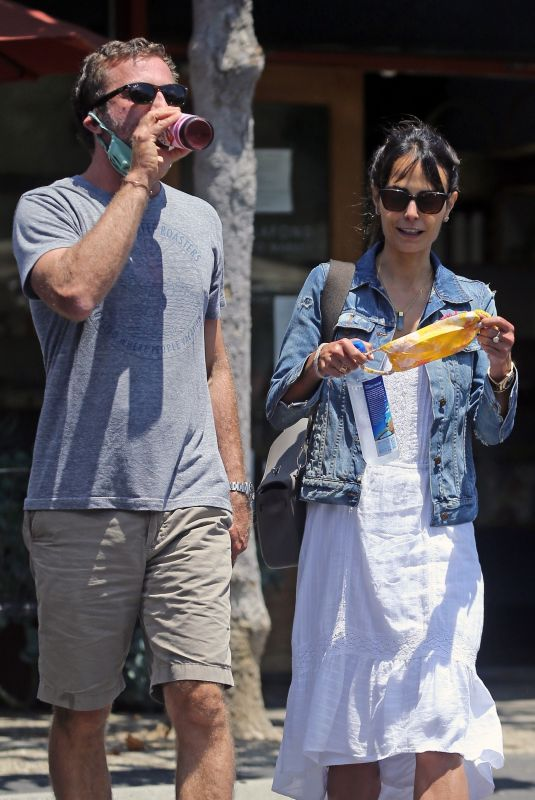 JORDANA BREWSTER and Mason Morfit Out for Lunch in Santa Monica 07/25/2020
