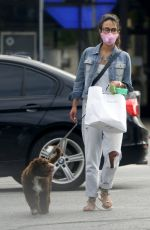 JORDANA BREWSTER Out with Her Dog in Brentwood 06/30/2020