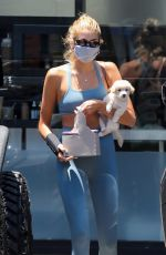 KAIA GERBER in Tights Out with Her Dog in West Hollywood 07/07/2020