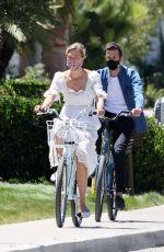 KARLIE KLOSS and Joshua Kushner Out Riding Bikes in Santa Monica 07/18/2020
