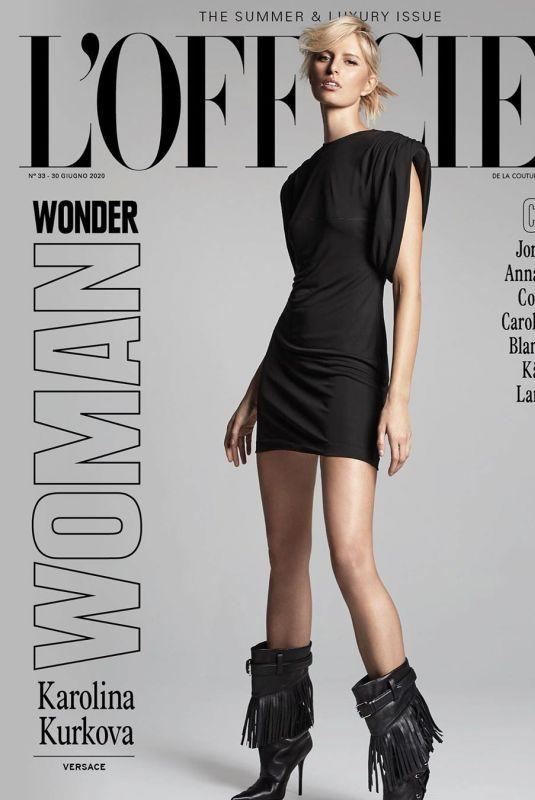 KAROLINA KURKOVA in L'Officiel Magazine, Italy, Summer & Luxury Issue 2020