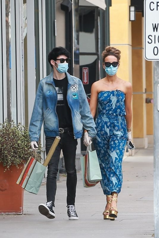 KATE BECKINSALE and Goody Grace Out in Santa Monica 07/22/2020