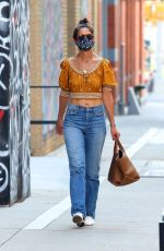 KATIE HOLMES in Denim Out Shopping in New York 07/03/2020