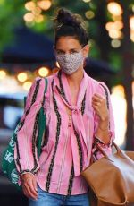 KATIE HOLMES Out Shopping in New York 07/22/2020