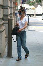 KATIE HOLMES Wearing a Mask Out in New York 07/14/2020