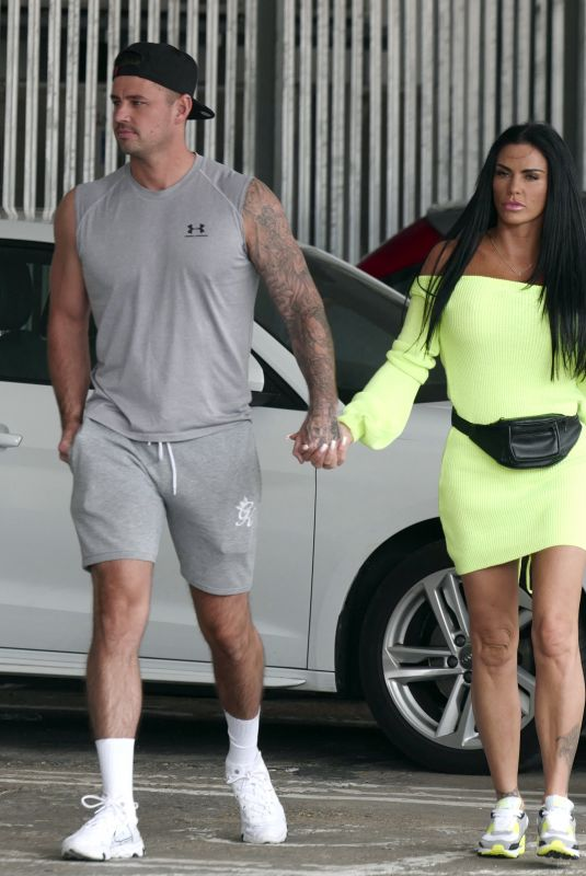 KATIE PRICE and Carl Woods Out in Surrey 07/13/2020