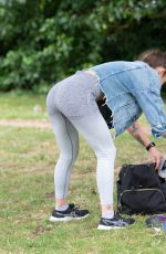 KATIE WAISSEL Workout at a Park in London 07/27/2020