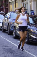 KELLY BENSIMON Out Jogging in New York 07/08/2020