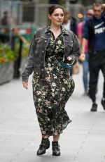 KELLY BROOK Arrives at Heart Radio in London 07/09/2020
