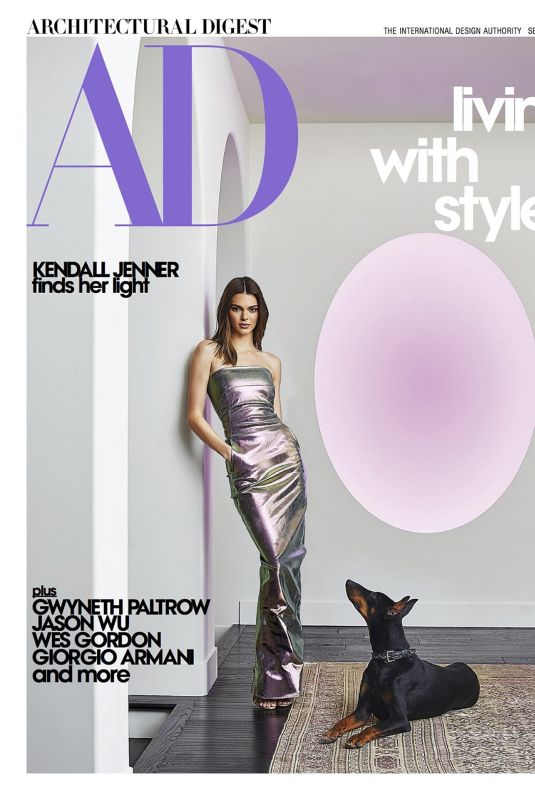 KENDALL JENNER in Architectural Digest Magazine, September 2020