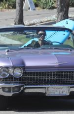KENDALL JENNER Out Driving in Her Classic 1960 Cadillac Eldorado Convertible in Los ANgeles 07/14/2020