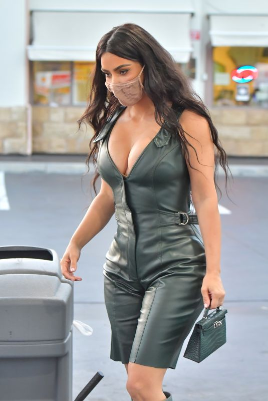 KIM KARDASHIAN at a Gas Station in Calabasas 07/06/2020