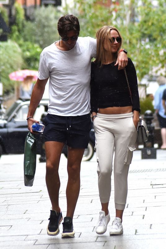 KIMBERLEY GARNER and Ollie Chambers Out on Kings Road in Chelsea 06/28/2020